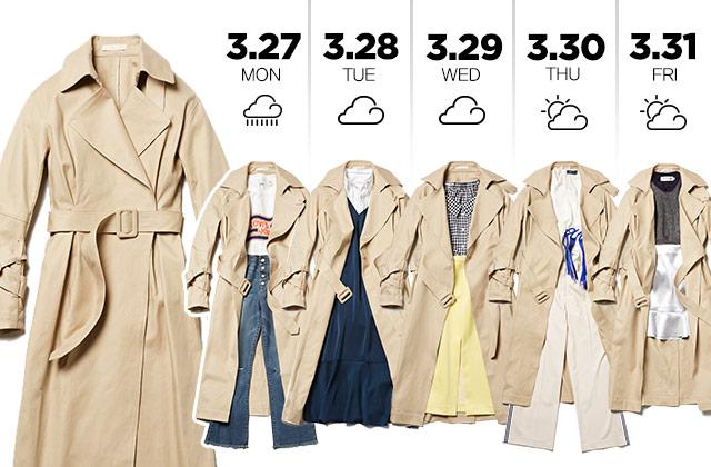트렌치 코트 하나로 보내는 일주일  의 썸네일 이미지