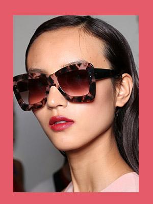 선글라스의 유행예감