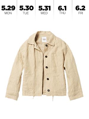 이번 주는 까슬한 리넨 재킷