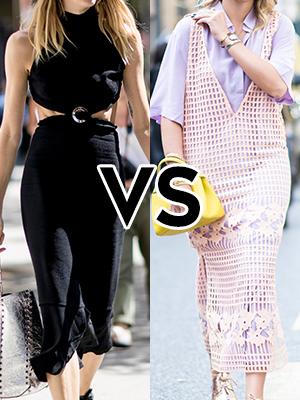 레이스 원피스 vs 블랙 드레스