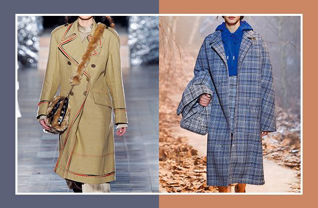 밀리터리 코트 VS 체크 코트