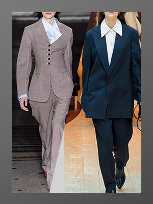 팬츠 수트의 두 가지 스타일