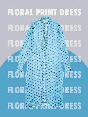 봄을 실감나게 하는 플로럴 프린트 드레스