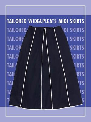대범하게 입는다. 와이드&플리츠 미디스커트 4 WAYS