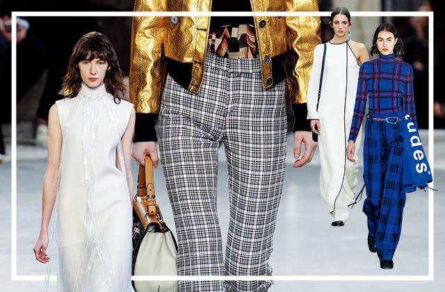 2018 가을 핵심 패션, 체크 팬츠 & 화이트 드레스의 썸네일 이미지