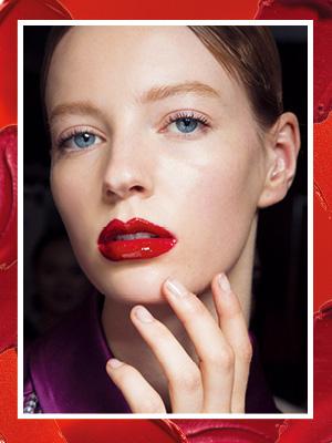 다시, red lips